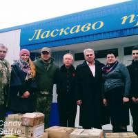 Під час передачі продуктів волонтерам