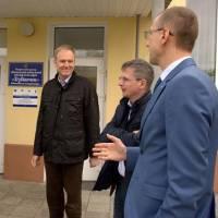 Беренд де Гроот та Бенедикт Херрманн обговорюють з Вадимом Гаєвим  можливості співпраці