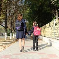 новий тротуар до школи