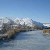 вид на гору Пристін взимку