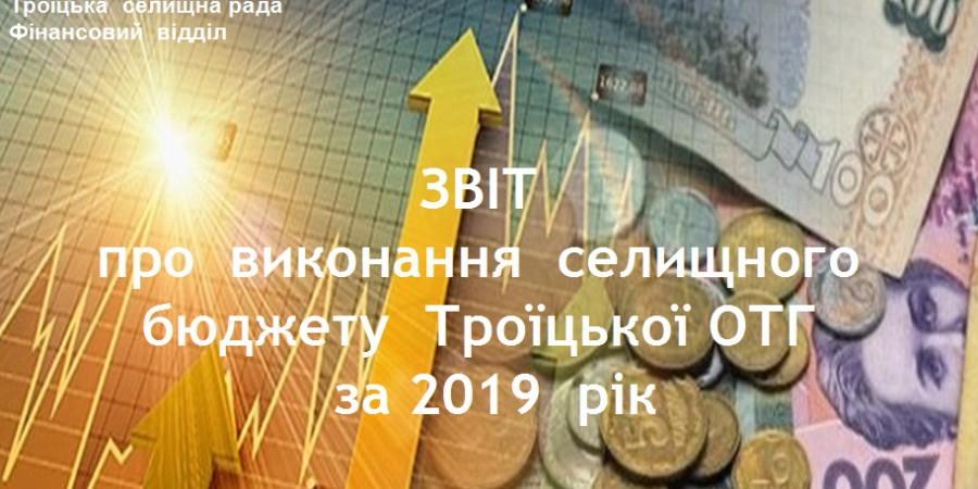 Звіт про виконання селищного бюджету Троїцької ОТГ за 2019  рік