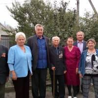 Поздоровлення  ветерана війни з ювілеем 90 років