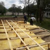 ремонт на даху спортзала