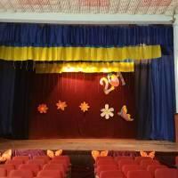 облаштовання освітлення на сцені в Хутірському клубі