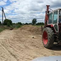 відновлення траншеї для відводу талої води з полів