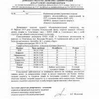 Лист Департаменту охорони здоров'я Донецької облдержадміністрації