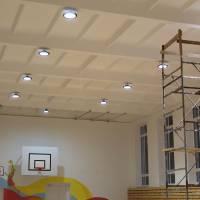 Нове освітлення спортзалу гімназії
