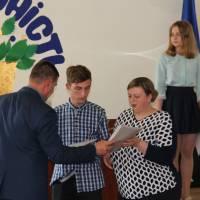 Тарасов Дмитро зі вчителем Рибальченко Ю. С.
