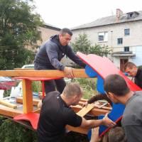 Будівництво дитячого майданчика в смт. Попільня