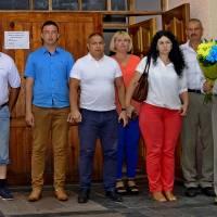 6 сесія VII скликання  Оліївської сільської ради, 22 червня 2018 р., перед покладанням квітів до пам'ятника загиблим у ІІ світовій війні