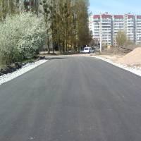 Частина відремонтованої вулиці Народицької (с.Оліївка)