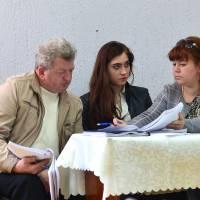 Лічильна комісія за роботою (засідання четвертої сесії сьомого скликання Оліївської сільської ради)