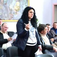 Виступає голова комісії з питань земельних відносин, будівництва та екології  Світлана Бекманюк