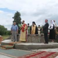 Освячення фундаменту церкви церкви  с.Яструбенька