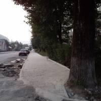 Тротуар по вул. Карпатська, 40 в процесі завершення ремонту - 1
