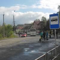 Біля автобусної зупинки