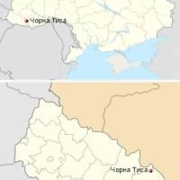 Чорна Тиса на карті України