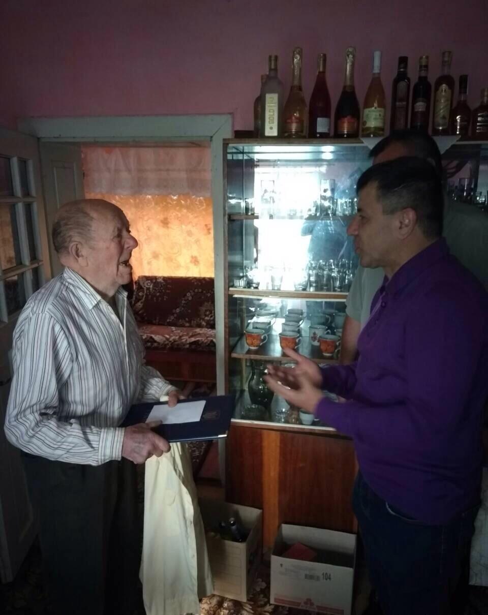 в селі Родникова Гута відзначив 90-річний ювілей житель села – Полончак Георгій Іванович.