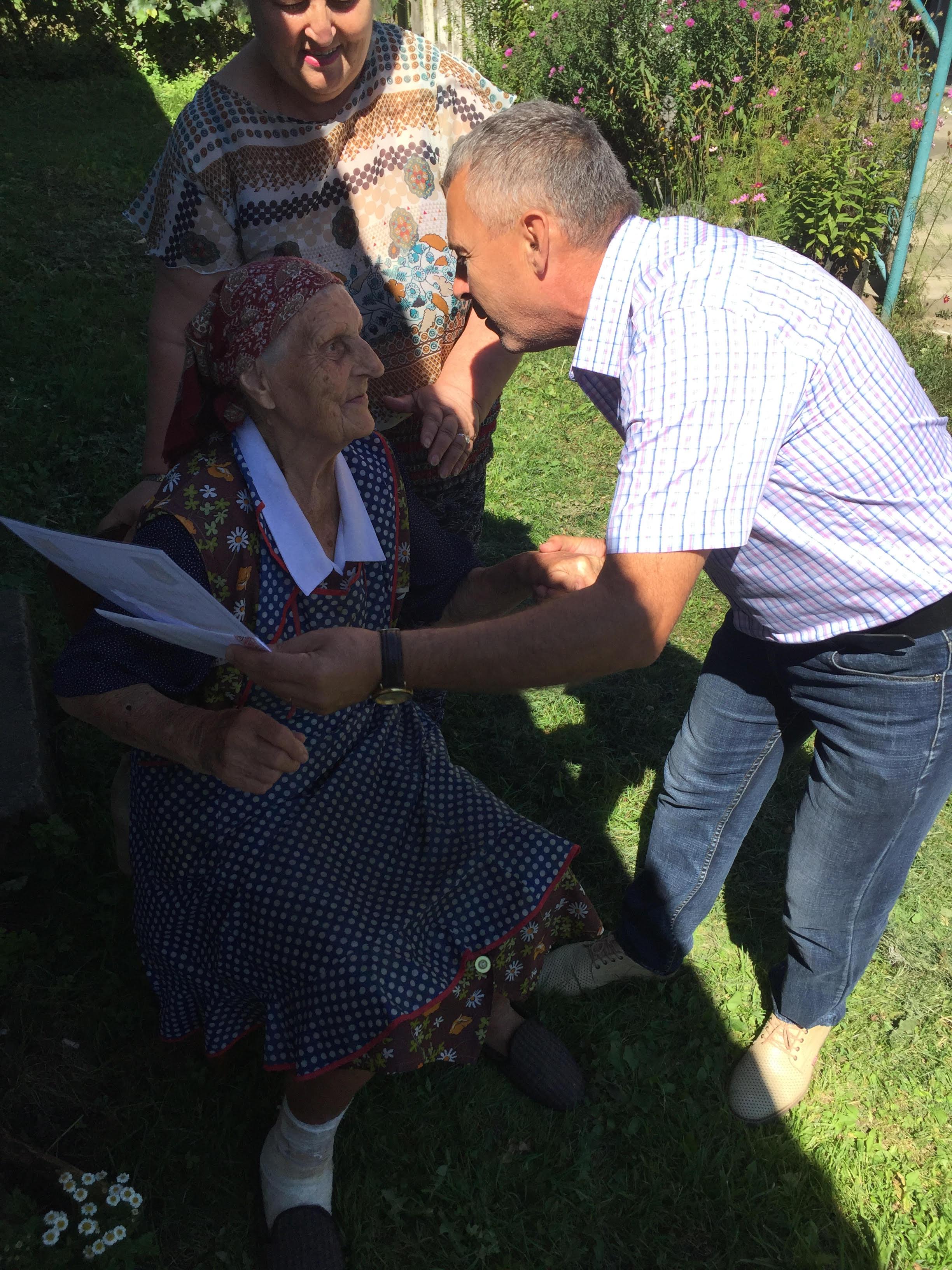 Штимак Агафія Федорівна жителька с. Поляна, відсвяткувала 97- й рік народження.