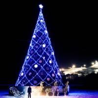 Новорічна ялинка 2017 в ночі