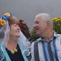 «Сорок років-кохані, єдині.  Так уміють лише в Україні.» Фото портрет