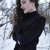 «Для справжньої української вроди  мінус двадцять – не перешкода.» Фото портрет