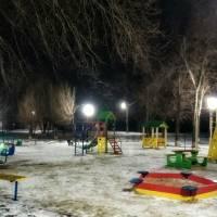 Зимовий дитячий майданчик