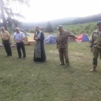 Військово-спортивний  вишкіл молоді  у  таборі  імені  Василя  Андрусяка в  селі  Рудники