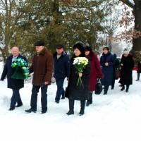 Покладання квітів до пам'ятника Т.Шевченка в с.Іллінці