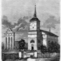 Ржищівський костел Святої Трійці у 1863 році