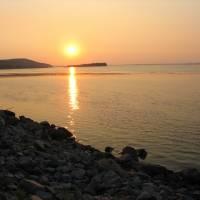 Захід сонця на р.Дніпро