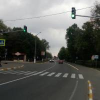 Світлофор у центрі селища