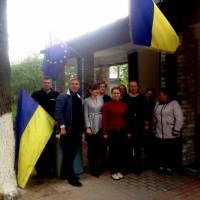 11 травня 2017 року, з нагоди підтримки рішення Європейського Парламенту про надання безвізового режиму Україні, відбулася церемонія підняття Державно
