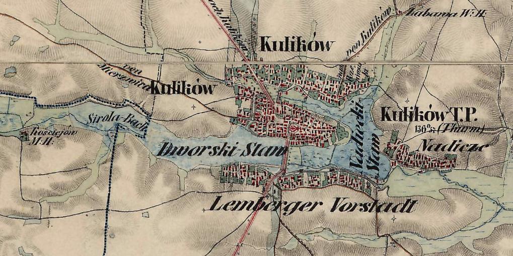 Куликів на австрійській мапі XIX століття.[7]