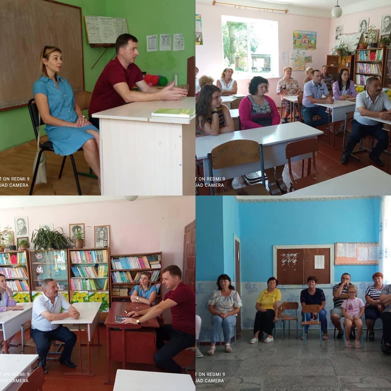 Продовження робочих зустрічей із працівниками закладів освіти та мешканцями Великолюбінської громади щодо роз'яснень проведення щеплення проти COVID-19
