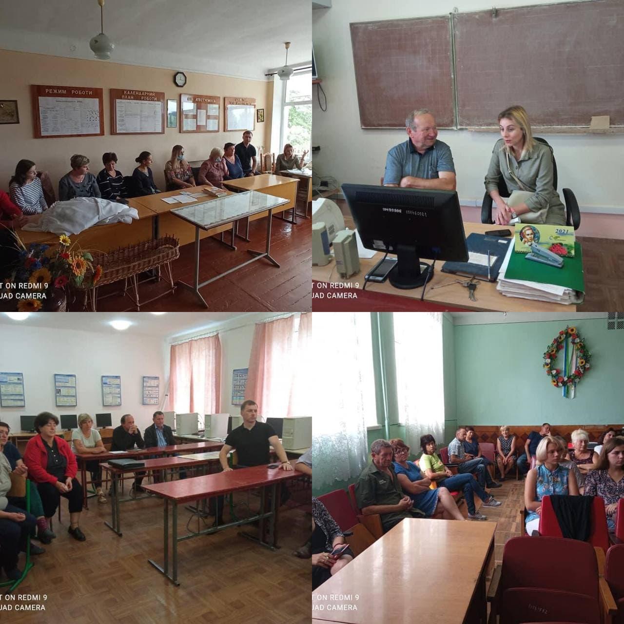 Зустріч із колективами закладів освіти Великолюбінської громади щодо роз'яснень проведення щеплення проти COVID-19