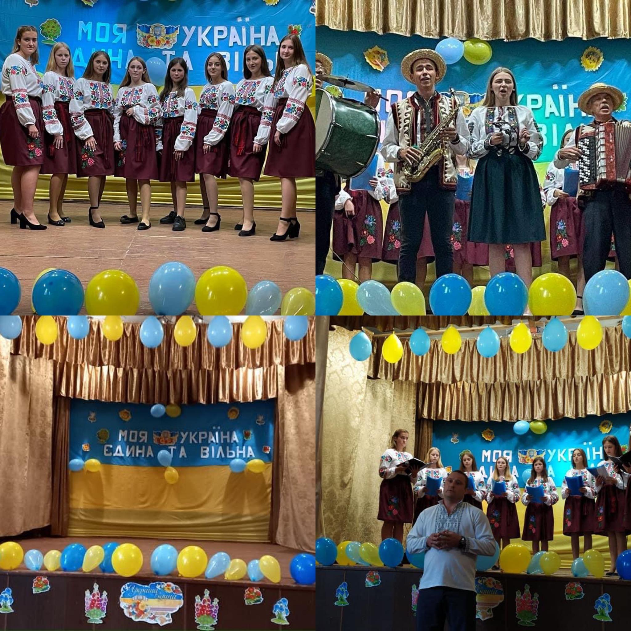 """""""Моя Україна,єдина та сильна"""" урочистий вечір з нагоди Дня Незалежності у с. Малий Любінь"""