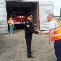 Урочисте вручення ключів від пожежної машини
