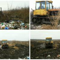 Фотозвіт проведених робіт на центральному сміттєзвалищі