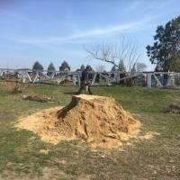 завезення піску на кладовища