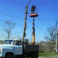 Заміна електроламп вуличного освітлення до пасхальних свят
