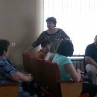 Тетяна Хоржевська, відповідає  на питання, що хвилюють населення.
