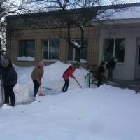 Доступ до сільської ради в зимку.