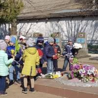 Мітинг присвячений 75 річниці до дня визволення с. Маяки від німецько-румунських загарбників