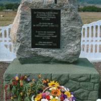 Плита в память про мешканців німецьких поселень 1817-1944