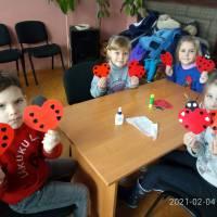 Майстер- клас по виготовленню валентинок у Великоплосковському БК