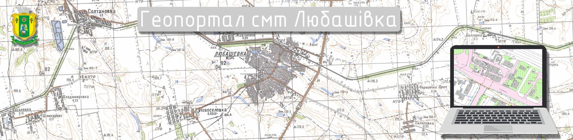 Геопортал смт Любашівка