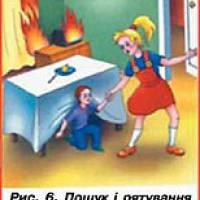 Рис.6 Пошук ірятування малолітніх дітей