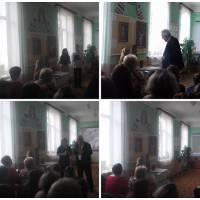 літературно-мистецьке свято-зустріч з членом Національної  спілки письменників України Миколою Тимчаком.