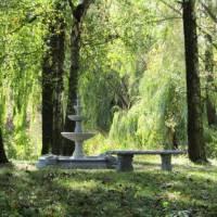 Квітковий фонтан на острові